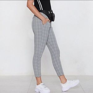 065f26e687 Nasty Gal Check Mate Cropped Pants